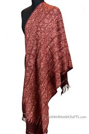 kashmir shawls red wrap hand embroidery burgundy stole wraps