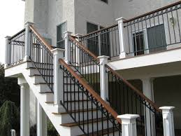 Stairs. Awesome Exterior Wrought Iron Stair Railings: Interesting ... Outdoor Wrought Iron Stair Railings Fine The Cheapest Exterior Handrail Moneysaving Ideas Youtube Decorations Modern Indoor Railing Kits Systems For Your Steel Cable Railing Is A Good Traditional Modern Mix Glass Railings Exterior Wooden Cap Glass 100_4199jpg 23041728 Pinterest Iron Stairs Amusing Wrought Handrails Fascangwughtiron Outside Metal Staircase Outdoor Home Insight How To Install Traditional Builddirect Porch Hgtv