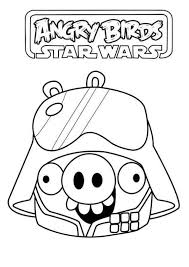 Coloring Page Angry Birds Star Wars