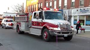 Rochester New Hampshire Christmas Parade FIRE TRUCKS & EMS - YouTube