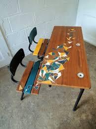 très joli bureau d écolier customisé le flem maye créa
