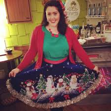 Ugly Holiday Sweater Party Idea Make A Tree Skirt Into Types Of Funny Christmas