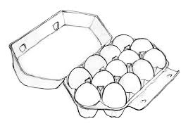 How To Draw A Carton Of Dozen Eggs Sketch Coloring Page