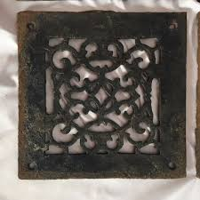 Used Floor Furnace Grates by Antique Cast Iron Fireplace Grill Grate 8x8 Wall Ceiling Vent Old