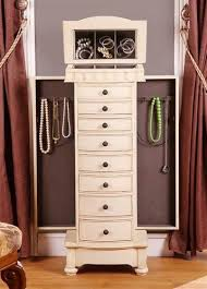 Mirrored Jewelry Box Armoire by Wonderful White Standing Jewelry Box Mirrored Jewelry Box Armoire