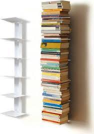 bücherturm étagère à livres 18cm 90cm unsichtbares