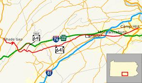 100 Truck Route Map Pennsylvania 641 Wikipedia