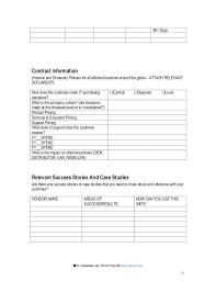Account Report Template Management Status Strategic Plan