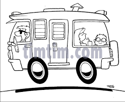 Free Drawing Of Camper BW From The Category Cars Trucks Buses