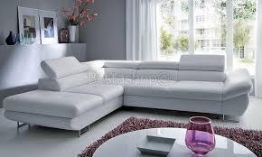canape d angle simili canapé d angle convertible lit avec coffre en simili cuir gris onyx