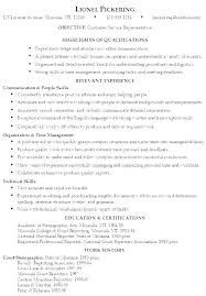 Resume Qualification Examples Resume Qualifications Samples Resume