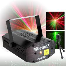 Firefly Laser Lamp Uk by Beamz Very Bright Red Green Sound Activated Disco Party Light Dj