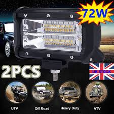 72W LED Work Lights Bar Spot Flood Light Offroad Vehicle Truck Car ... 4x 4inch Led Lights Pods Reverse Driving Work Lamp Flood Truck Jeep Lighting Eaging 12 Volt Ebay Dicn 1 Pair 5in 45w Led Floodlights For Offroad China Side Spot Light 5000 Lumen 4d Pod Combo Lights Fog Atv Offroad 3 X 4 Race Beam Kc Hilites 2 Cseries C2 Backup System 519 20 468w Bar Quad Row Offroad Utv Free Shipping 10w Cree Work Light Floodlight 200w Spotlight Outdoor Landscape Sucool 2pcs One Pack Inch Square 48w Led Work Light Off Road Amazoncom Ledkingdomus 4x 27w Pod