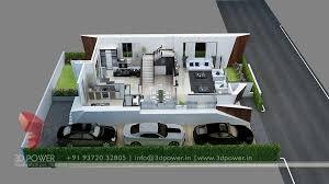 Building Floor Plan Colors Bunglow Design 3d Architectural Rendering Services 3d