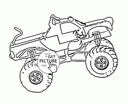 Monster Truck Coloring Pages For Kids | Printable Coloring Page For Kids