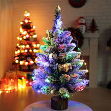 Snow Flocking For Christmas Trees by E5 Artificial Flocking Snow Christmas Tree Led Multicolor Lights