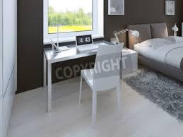 arbeitsbereich im minimalistischen schlafzimmer tisch mit stuhl bilder myloview