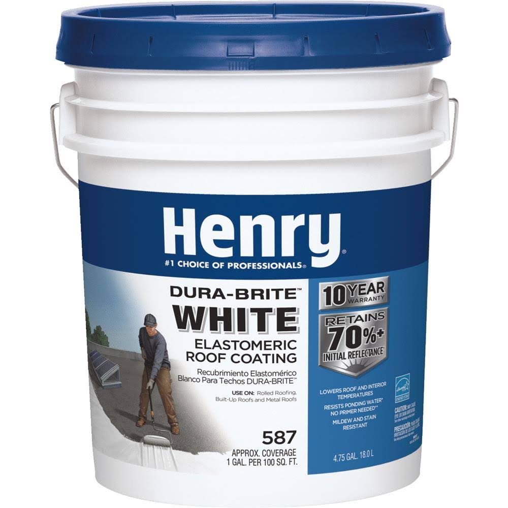 Henry White Roof Coating - 4,75Gal