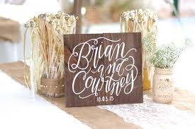 Personalized Wedding Sign Rustic Wooden Weddings Keepsake Gift Home Wall Art The Paper Walrus