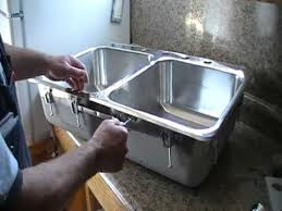 installing a steel queen stainless steel kitchen sink youtube