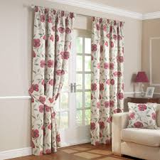 Amazon Uk Living Room Curtains by Carmen Red Luxury Jacquard Lined Pencil Pleat Curtains Pair