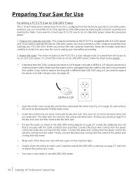 preparing your saw for use sawstop 1 75hp user manual page 38