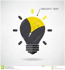 Creative Light Bulb Idea Concept With Doodle Hand Drawn Sign
