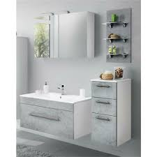 badezimmer set beton weiß 100cm keramik waschtisch led