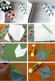 Craft Ideas For Kids At Home Page Corner Bookmark Easy To Make Step By Crafts Homemade Soap