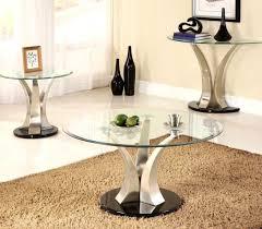 furniture adorable coaster chrome and tempered glass sofa table