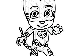Coloring Pages Of Pj Masks Romeo Mask Photo