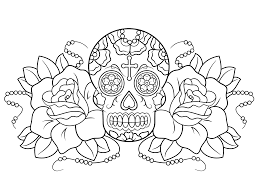 Day Of The Dead Coloring Pages Photo