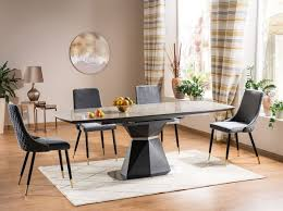 casa padrino luxus esstisch grau matt anthrazit 160 210 x 90 x h 76 cm moderner ausziehbarer esszimmertisch mit keramikplatten in marmoroptik