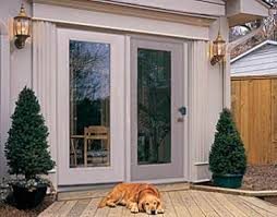 Outswing French Patio Doors by French Patio Doors With Dog Door Built In Johnson Patios Design