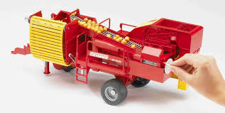 Grimme Potato Digger With 80 Potatoes - Vehicle Toy By Bruder Trucks ...