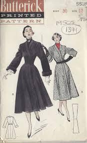 1949 Vintage Sewing Pattern B30 COAT 1371 Butterick 5518