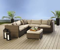 Patio Furniture With Hidden Ottoman by Home Studio Glenna Sectional With Storage Ottoman Patio