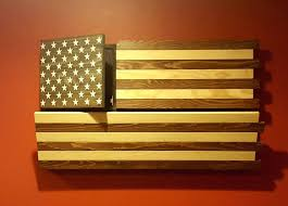 Rustic Wood American Flag Wall Art Popular Canvas On 3d Painted