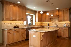 Brilliant Maple Cabinet Refacing Oak Cabinets Natural With Dark Wood Floors Kitchen Styles And Finishes Shaker Style On D
