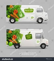 100 Truck Brand Identity Mockup Set Food Stock Vector Royalty Free