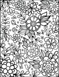 Free Floral Printable Coloring Page From Filthymuggle