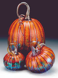 Half Moon Bay Glass Pumpkin Patch by Art Glass By Jack Pine A Touch Of Glass Pinterest Jack O