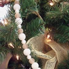 New Product Coming Bead Garland Christmas Decoration Xg6075 Taupe Cream Pearl