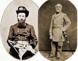 Union General Ulysses S Grant Left And Confederate Robert E Lee