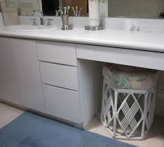 Master Bathroom Vanity With Makeup Area by Diy By Design Sinks For Two