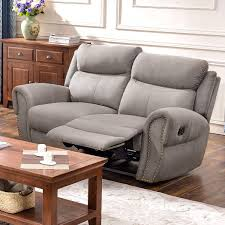 HarperBright Designs Recliner Chairs Fabric Recliner Loveseat Recliner Sofa Sets For Living Room Loveseat Taupe Gray