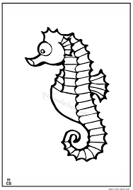 Animal Coloring Book Pages Sea