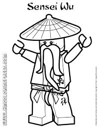 Ninjago Sensei Wu Coloring Page