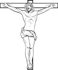 Printable Coloring Page Of Jesus Crucified On The Cross