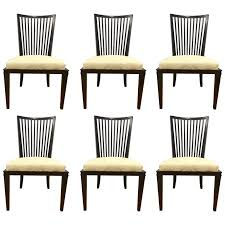 Barbara Barry For Baker Furniture Set Of Six Slat Back Dining Room Chairs Sale